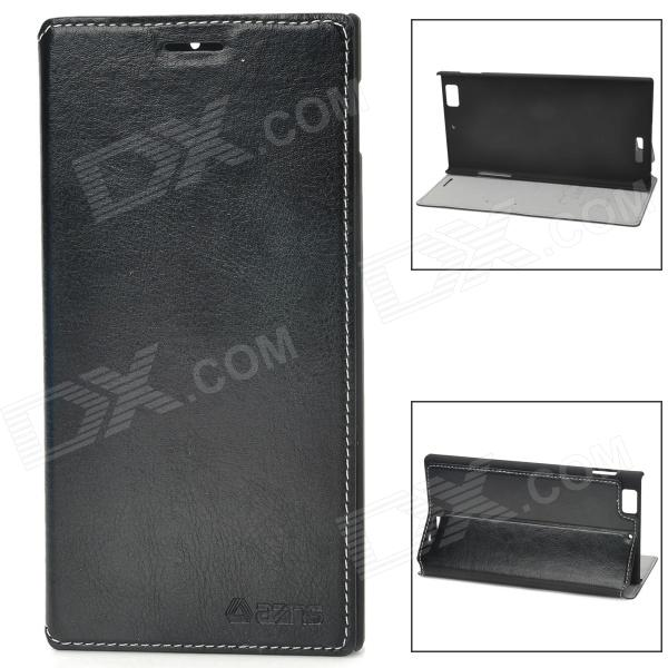 AZNS Stylish PU Leather Stand Case for Lenovo K900 - Black - DXLeather Cases<br>Brand AZNS Quantity 1 Piece Color Black Material PU leather Compatible Models Lenovo K900 Other Features Can be a stand for better viewing; Protects the device from dust shock and scratches Packing List 1 x Case<br>