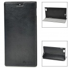 AZNS Stylish PU Leather Stand Case for Lenovo K900 - Black
