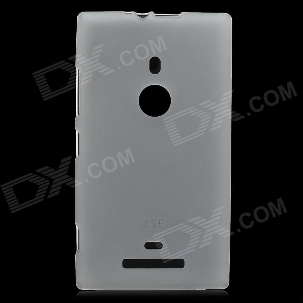 Protective TPU Back Case for Nokia Lumia 925 - Translucent White protective tpu case for nokia 925 black
