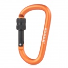 RYDER Eloxieren Aluminum Alloy Screw-Lock Karabiner - Orange