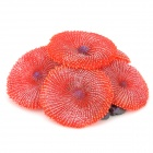 Decorativa Aquarium Artificial Lifelike Coral - vermelho