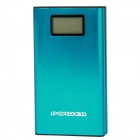 "PLY-1307 1.2"" Display ""20000mAh"" Dual USB Power Bank w/ 5 x Charging Adapters + Temperature - Blue"