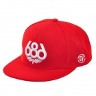 686 Pattern Hip Hop Baseball Cap Hat - Red + White