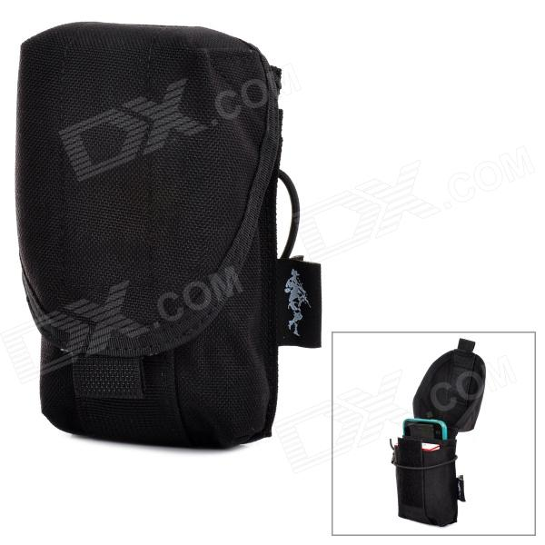 Free Soldier XKQWB38 Universal CORDURA Waist Bag for Cell Phone - Black