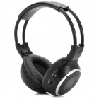 IR-2011D 5.1-Channel Infrared Stereo Wireless Headphones - Black + Silver (2 x AAA)