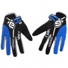 CoolChange Cycling Nylon Warm Gloves - Black + Grey + Blue (Size L / Pair)