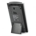 "WS1066 Multi-Functional 4.8"" LCD Wireless Weather Alarm Station - Black + Silver"