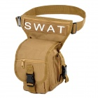 SWAT Multi-Functional Outdoor Sport Rainproof Waist / Leg / Shoulder Bag - Dark Goldenrod (15L)