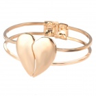 Fashion Exquisite Heart Bracelet Jewelry for Women - Golden