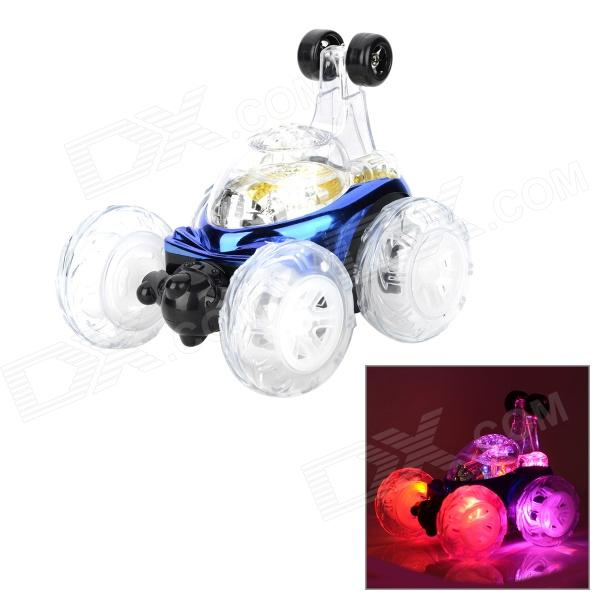 XD 49MHz 4-CH R/C Remote Control Flip Stunt Car Toy with Colorful Light Effects (2 x AA) wltoys wl r4 2 9 lcd 6 axis multi function remote controller for r c toy black 4 x aa