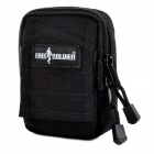 Free Soldier FS-10 Cordura Hanging Waist Bag - Black