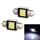 Festoon 31mm 2W 160lm COB LED White Light Car Auto Reading Lamp Dome Bulb - (12V / 2 PCS)