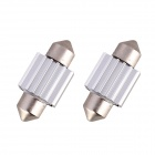 Festoon 31mm 2W 160lm COB LED White Light Car Auto Reading Lamp Bulb Dome - (12 V / 2 PCS)