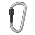 RYDER 8mm OD Eloxieren Aluminum Alloy Screw-Lock Karabiner - Grau