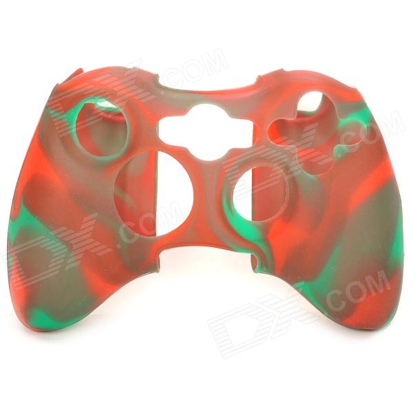Silicone Cover Case for Xbox X360 Controller - Green + Red protective silicone case for xbox one controller camouflage green