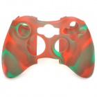 Silicone Cover Case for Xbox X360 Controller - Green + Red