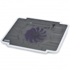 Coolcold Ultra-thin Quiet USB Powered 1-Fan Cooling Pad for laptops - White + Black