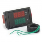 5.5 x 3cm LCD 2-in-1 Dual-Display 3-Digital AC Voltmeter Ammeter Meter - Black (AC 100~300V)