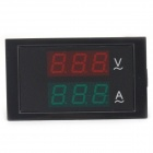 5.5*3cm LCD 2-in-1 Dual-Display 3-Digital AC Voltmeter Ammeter Meter