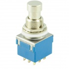 SW-3PDT No Lock 9-Pin Foot Switch - Silver + Blue (AC 250V / 2A)