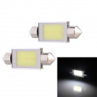 Festoon 39mm 3W 240lm 3-COB LED White Light Car Auto Reading Lamp Dome Bulb - (12V / 2 PCS)