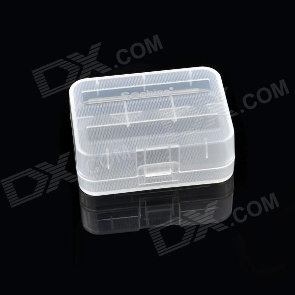 Soshine Protective Plastic Case for 2 x 18500 Batteries - Transparent