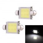 Festoon 39mm 6W 480lm 6-COB LED White Light Car Auto Reading Lamp Dome Bulb - (12V / 2 PCS)