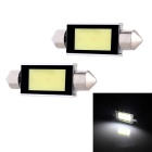 Festoon 42mm 3W 240lm 3-COB LED White Light Car Auto Reading Lamp Dome Bulb - (12V / 2 PCS)
