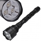 SingFire SF-500 5-Mode 750lm White Flashlight w/ 3 x CREE XR-E Q5 - Black (3 x 18650)