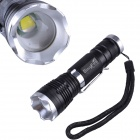 SingFire SF-707B 800lm 5-Mode White Zooming Flashlight w/ Cree XM-L T6 - Black + Silver (1 x 18650)