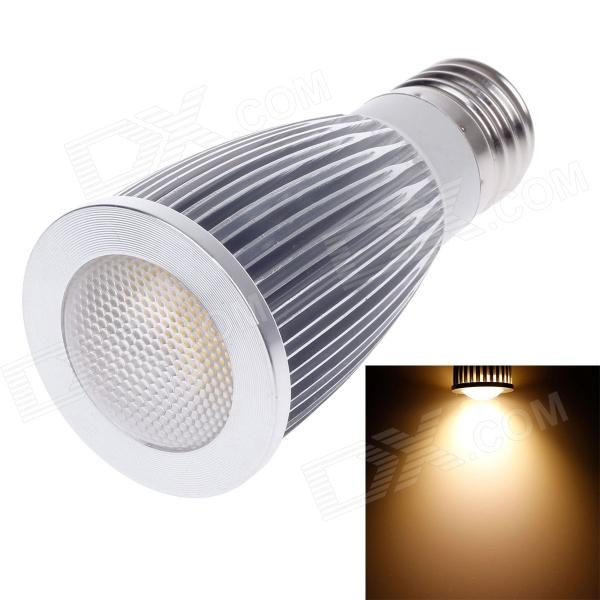 ZIYU ZY-0820-007 E27 7W 630lm 3000K COB LED Warm White Light Lamp Bulb - Silver + White (85~265V) ziyu zy 0814 005 7w 1200lm 470nm 120 led blue light decorative lamp strip white 12m 220 240v