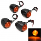 10W Motorcycle Yellow Light Turn Signal Lamp - Black + Orange (12V)