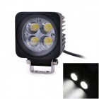 UltraFire T-10 12W 607lm 6000K 4 x Epsitar LED Car Roof Light / Off-Road Spotlight - Black (10~30V)