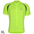 ARSUXEO AR608S Quick-drying Cycling Polyester Jersey for Men - Fluorescent Green + Black (XL)