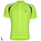 ARSUXEO AR608S Quick-drying Cycling Polyester Jersey for Men - Fluorescent Green + Black (L)