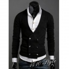 Fashion Fleece Slim Jacket / Coat for Men - Black (L)
