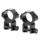 30mm-Caliber Heighten Alloy Alloy Gun Bracket Mounts w / Hex Wrench para M4A1 / M40-Preto (2 PCS)