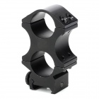 Dual Rings Aluminum Alloy Rifle Scope Gun Mount Bracket for M16 / M41A - Black