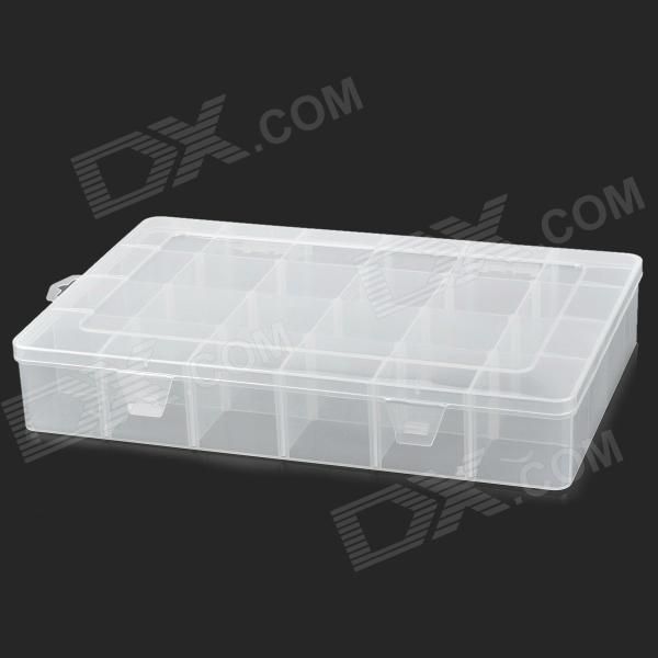 24-Compartment Detachable Multifunction Storage Box - Translucent White (33.5 x 22.5 x 5.7cm) jr 956 box in box 7 compartment foldable handcraft storage case green