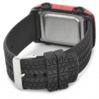 SKMEI 0961B Car Style Electronic Silicone Band Digital Wrist Watch for Kids - Red + Black