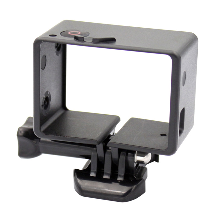 Miniisw F-B Plastic Extension BacPac Frame Mount w/ Fast Assembling Plug for Gopro Hero 4/ 3 - Black