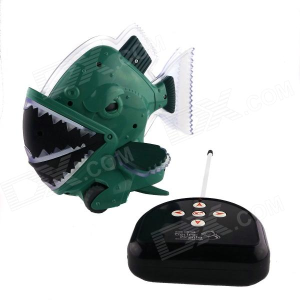 Wireless Remote 2-Channel Piranha Toy - Green (4 x AAA) pet safe electronic shock vibrating dog training collar with remote control 2 x aaa 1 x 6f22 9v