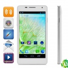 "D2 Dual-Core Android 4.2 WCDMA Bar Phone w/ 5.0"", 1GB RAM, 4GB ROM Wi-Fi and GPS - White + Silver"