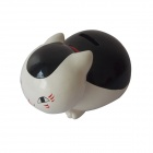 Cute Kitten Synthetic Resin Piggy Bank / Coin Band - White + Black