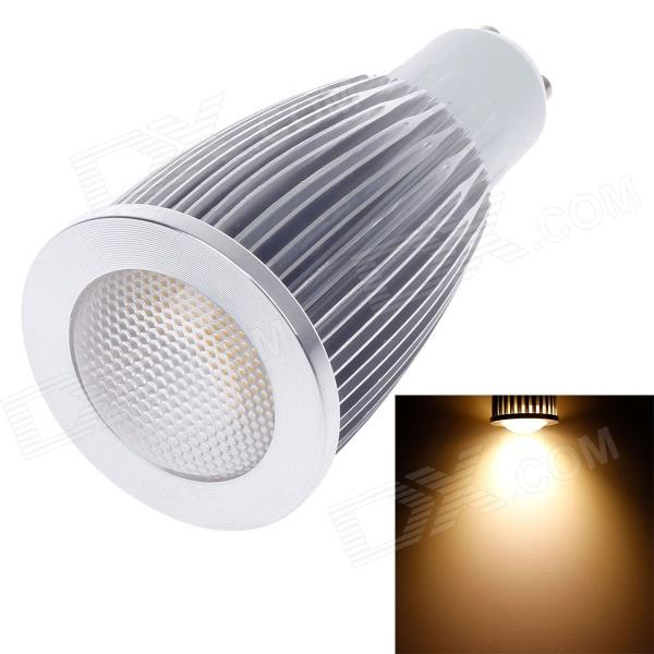 ZIYU ZY-0819-007 GU10 7W 630lm 3000K COB LED Warm White Light Lamp Bulb - Silver + White (85~265V) ziyu zy 0814 005 7w 1200lm 470nm 120 led blue light decorative lamp strip white 12m 220 240v