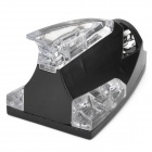 Wind Powered LED Decorative Roof Lamp for Car - Black