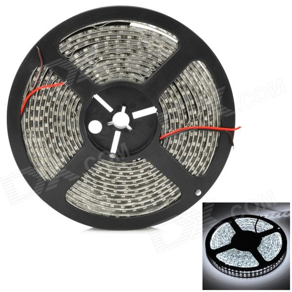12V 96W 4800LM 3528 SMD LED 1200 Emitters Waterproof Flexible Cool White Light Strip (500cm)