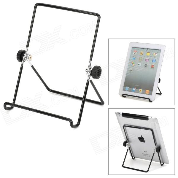 Universal Foldable Multi-Angle Holder Stand for Tablet PC - Black + Silver universal plastic stand holder for 4 10 tablet pc red