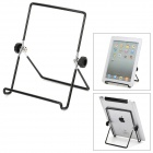 Universal Foldable Multi-Angle Holder Stand for Tablet PC - Black + Silver