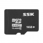 SSK Micro SD / TF Memory Card - Black + White (16GB / Class 6)